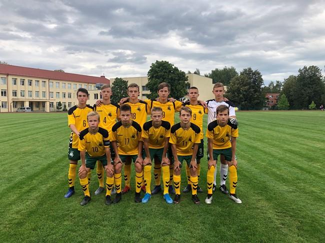 UEFA turnyre – pirmoji U-15 rinktinės pergalė
