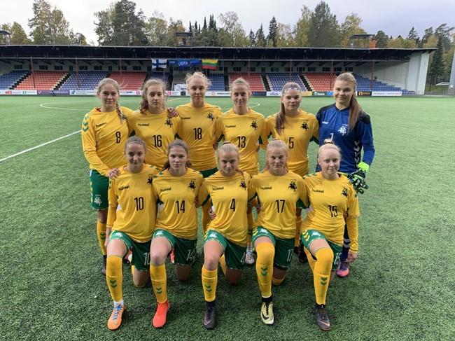 Merginų U-19 rinktinė neprilygo suomėms