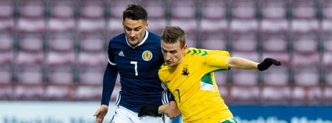 Jaunimo rinktinė Škotijoje iškovojo lygiąsias