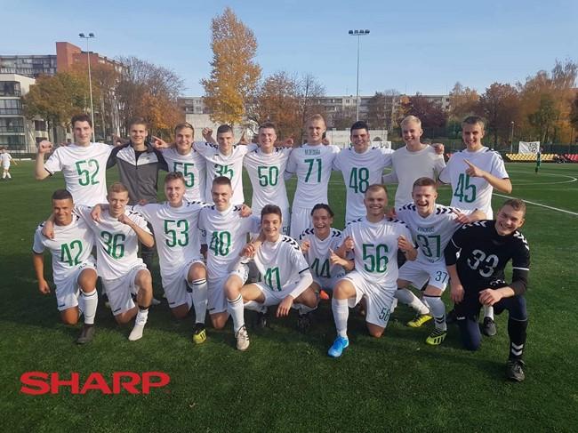 Kauno U-19 futbolininkai iškovojo išsvajotą EJL čempionų titulą