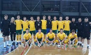 Draugiškose futsal rungtynėse Lietuvos jaunimo rinktinė nusileido prancūzams