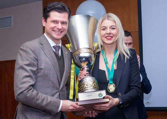Vilniuje apdovanotos geriausios A lygos žaidėjos