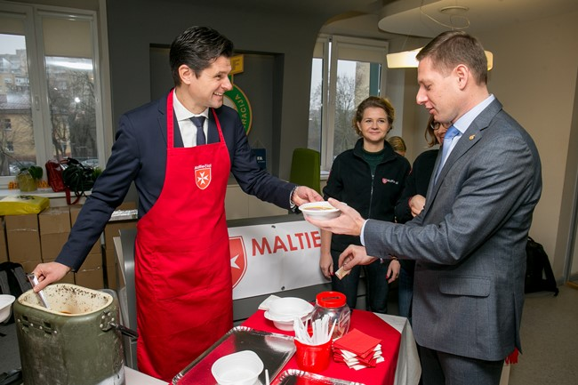 Maltos ordinas apsilankė Lietuvos futbolo federacijoje