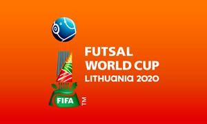 "Vilniuje oficialiai pristatyta ""FIFA Futsal pasaulio taurė Lietuva 2020™"" emblema"