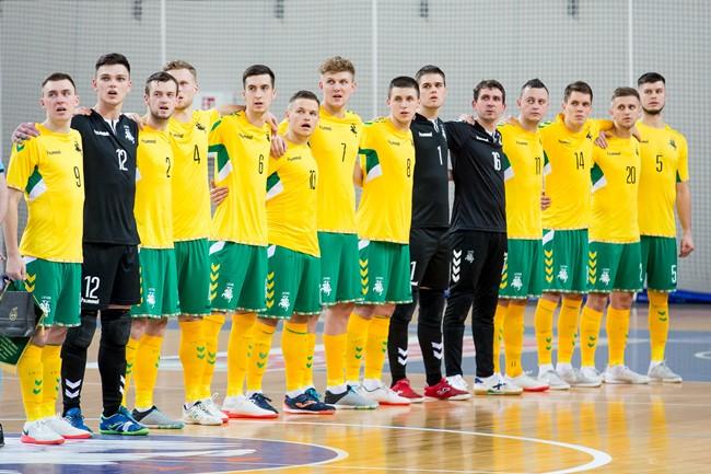 Lietuvos futsalo rinktinė užėmė antrą vietą Europos čempionato atrankos grupėje