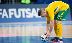 Prieš atkrintamąsias Lietuvos futsal rinktinė pateko į pirmąjį krepšelį