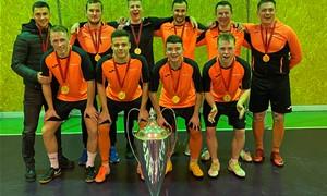 """Telšių rajono salės futbolo pirmenybių nugalėtoja – """"Byggvito"""" komanda"""