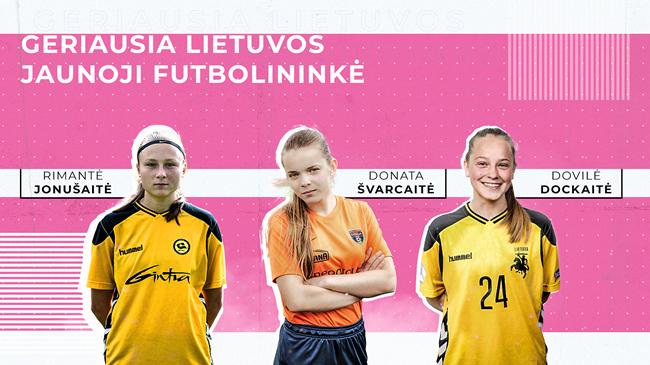 Geriausios Lietuvos jaunosios futbolininkės iš arti: futbolo idealas, svajonių šalis ir pasižadėjimai laimėjus prizą
