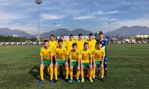 """Vaikinų U-17 rinktinė pergalingai pradėjo UEFA """"Development"""" turnyrą"""