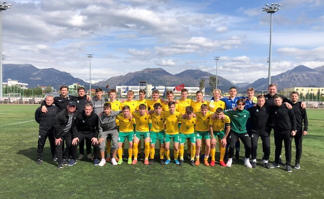 UEFA turnyrą U-17 rinktinė užbaigė pergale po baudinių serijos