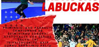 """M. Labuckas: """"J. Ryvkino tikslas – geriau pasiruošti pasaulio čempionatui, K. Rudžionis bandė įskiepyti meilę futsalui"""""""