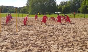 Antroje paplūdimio rinktinės stovykloje – žaidimas ir taktinės subtilybės
