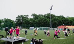 LFF stadione nuaidėjo moterų fitneso šventė