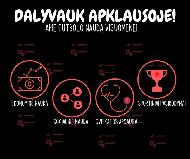 LFF sieks išsiaiškinti futbolo sukuriamą naudą visuomenei