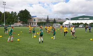 Kaunas prisijungė prie LFF vykdomų treniruočių merginoms maratono