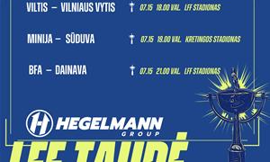 Paskutinių Hegelmann LFF taurės aštuntfinalio porų apžvalga