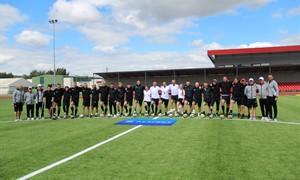 UEFA A licencijos siekiantys treneriai tobulinosi Prienuose