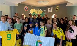 """LFF biure svečiavosi """"Hope For Football"""" bendruomenė"""