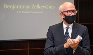 B. Zelkevičiui neeilinis įvertinimas – suteiktas LFF Garbės Prezidento vardas