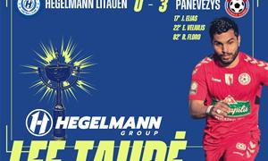 """Panevėžys"" žengė į LFF Hegelmann taurės pusfinalį"
