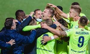 """Laimėję nervų karą """"Riteriai"""" pateko į antrąjį UEFA Europos lygos atrankos etapą"""