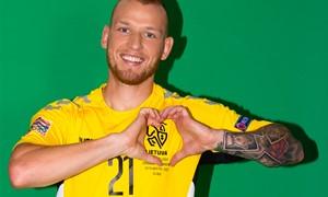 Modernizuotas Vytis – Lietuvos futbolo rinktinių simbolis