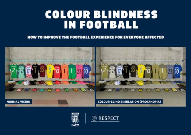 Spalvinis aklumas futbole: problemos ir sprendimai