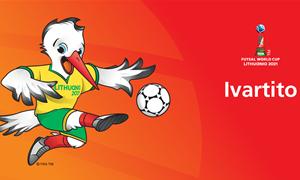 Debiutuoja FIFA pasaulio salės futbolo čempionato talismanas – šokantis gandras