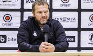 D. Vencevičius džiaugėsi U-21 žaidėjų debiutais nacionalinėje rinktinėje ir rytoj tikisi pergalės