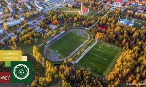 LFF skyrė dangą naujai futbolo aikštei Naujojoje Akmenėje