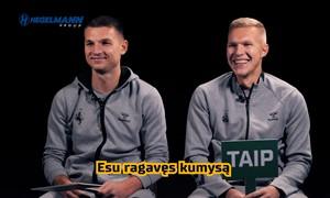 Lietuvos rinktinės futbolininkai žaidimo metu pasidalino smagiomis istorijomis