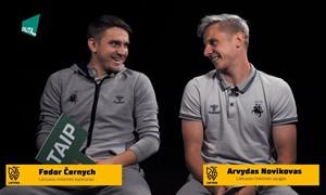 """A. Novikovas ir F. Černych sužaidė žaidimą """"Yra buvę, nėra buvę"""""""