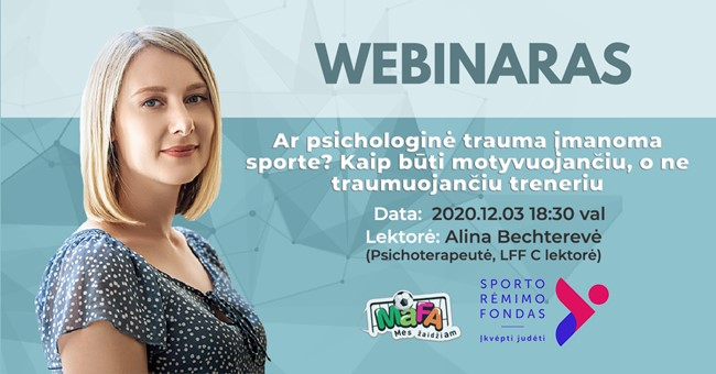 Nuotoliniame seminare - apie psichologines traumas