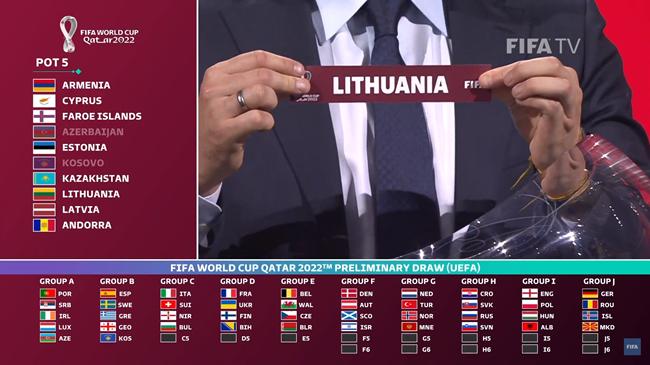 Burtai: Lietuvos rinktinės Europos atrankoje į Pasaulio čempionatą laukia italai, šveicarai, šiaurės airiai ir bulgarai