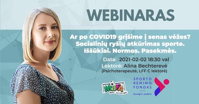 Internetiniame seminare – apie socialinių ryšių atkūrimą po karantino