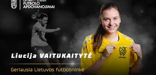 Geriausia Lietuvos futbolininke pirmą kartą karjeroje tapo Liucija Vaitukaitytė