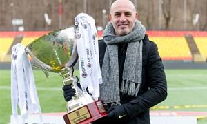 """""""Panevėžio"""" treneris J. Martinsas: """"Esame labai laimingi dėl šio trofėjaus"""""""