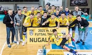 """""""Kauno Žalgiris"""" penktą kartą iš eilės iškovojo LFF Futsal taurę"""