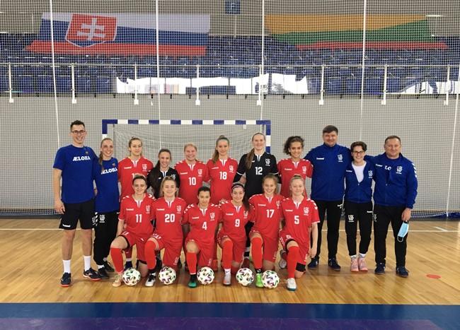 Moterų Futsal rinktinė Jonavoje rungsis Europos čempionato atrankos turnyre