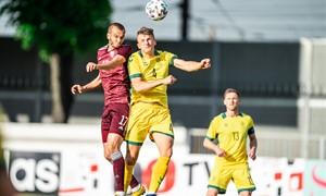Lietuvos rinktinė išvykoje neprilygo Latvijai