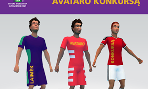 "Skelbiamas ""FIFA FUTSAL WC 2021 challenge"" geriausio avataro konkursas"