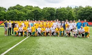 Europos čempionato proga draugiškose rungtynėse susitiko LFF ir Vilniaus universiteto komandos