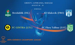 """""""Gintra"""" sužinojo Šiauliuose vyksiančio UEFA Čempionių lygos atrankos turnyro varžoves"""