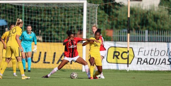 Pavyzdinį kovingumą demonstravusi Gintra sužaidė lygiosiomis su AC Milan