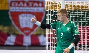 """Salės futbolo rinktinės vartininkas E. Žagaras: """"Kiekvieno žaidėjo svajonė yra žaisti pasaulio čempionate"""""""