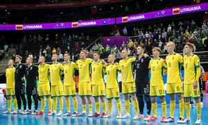 Lietuvos salės futbolo rinktinė pralaimėjo grupės favoritui Kazachstanui